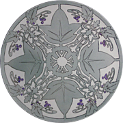 "Tressemann & Vogt (T&V) Limoges Arts & Crafts Grape Motif Tray/Charger (Signed ""R.I.G.""/Dated 1908)"
