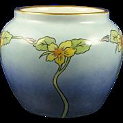 "Epiag Czechoslovakia Arts & Crafts Floral Design Vase (Signed ""E.B.C.""/c.1918-1936)"