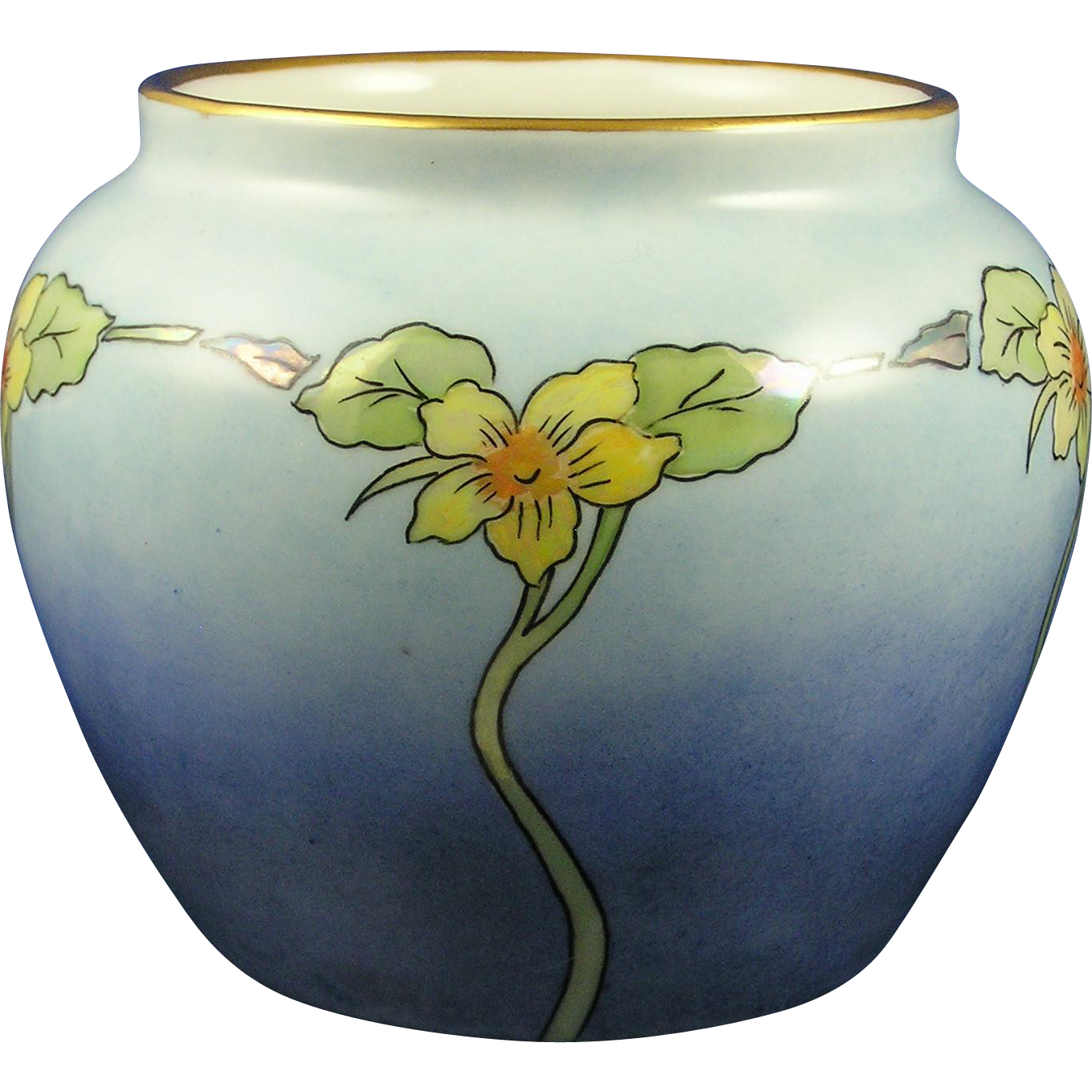 "Epiag Czechoslovakia Arts & Crafts Floral Design Vase (Signed ""E.B.C.""/c.1918-1936)"