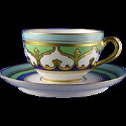 Limoges Mark 6 Stouffer Studios Arabesque Motif Cup & Saucer Set (c.1906-1914)