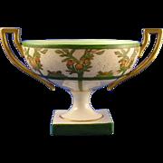 Willets Belleek Citrus Motif Handled & Footed Bowl (c.1879-1912)