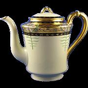 "Haviland Limoges Quality Art Studio Pickard ""Lily Palmate"" Design Coffee Pot (c.1915-1920)"