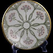 Jean Pouyat (JP) Limoges Arts & Crafts Floral Motif Plate (c.1890-1932)