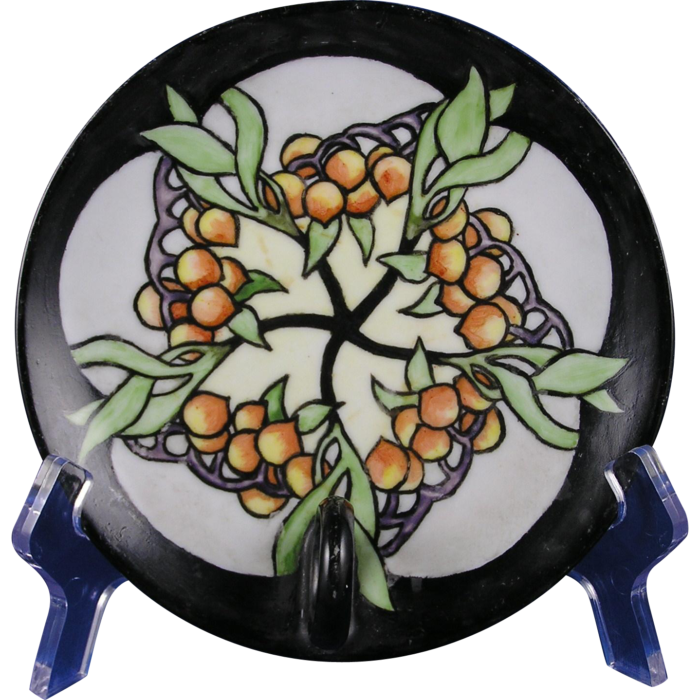 Thomas Bavaria Arts & Crafts Berry Design Lemon Server/Dish (c.1906-1930)