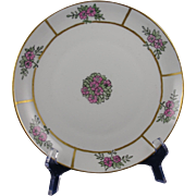 """Krister Porcelain Manufactory (KPM) Germany Arts & Crafts Floral Design Plate (Signed """"M.T.""""/c.1904-1927)"""