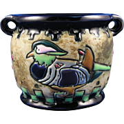 """Amphora Austria Arts & Crafts """"Campina"""" Duck Design Vase (c.1905-1910)"""