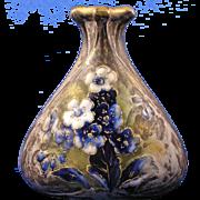 RStK Amphora Austria Arts & Crafts Enameled Floral Design Vase (c.1899-1905)