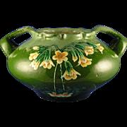 RStK Amphora Austria Arts & Crafts Floral Motif Handled Vase (c.1900-1905)
