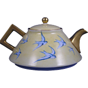 Favorite Bavaria Arts & Crafts Bluebird Design Teapot (c.1910-1930)