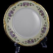 "Hutschenreuther Selb Bavaria Violet Design Plate (Signed ""May Parker""/Dated 1917)"