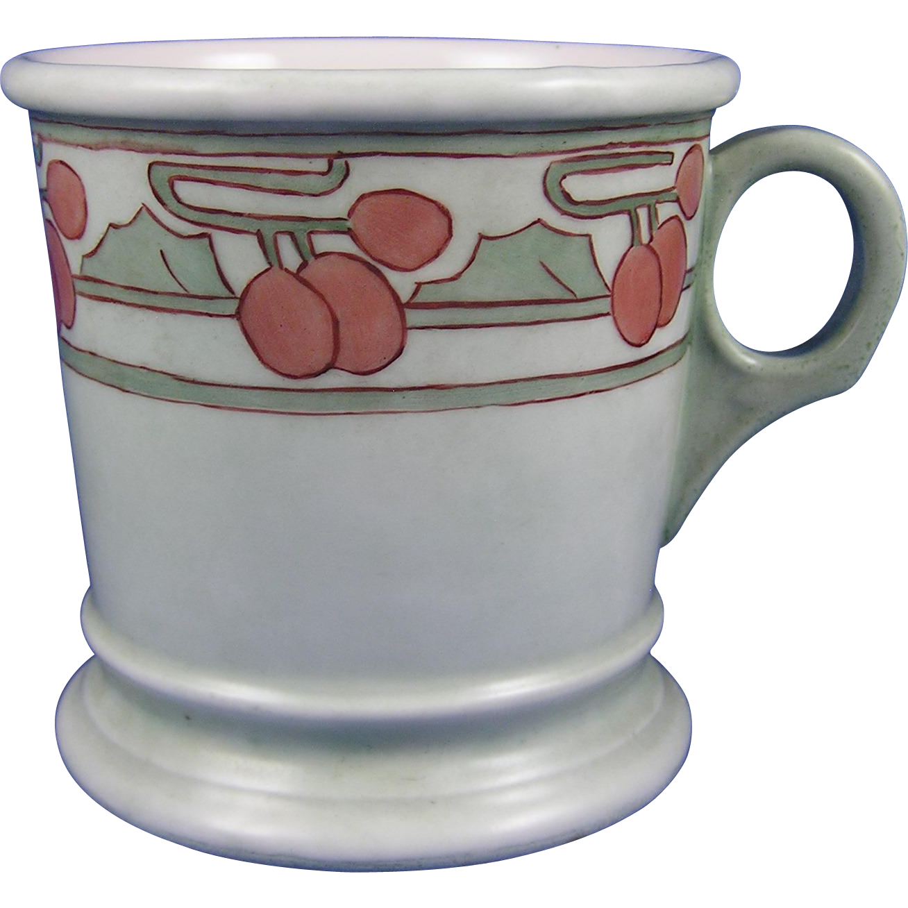 "Limoges Mark 6 Arts & Crafts Cherry Design Cup/Mug (Signed ""M.E.M. Patie""/Dated 1906)"
