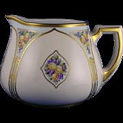 "Zeh Scherzer & Co. (ZS&Co.) Bavaria Arts & Crafts Fruit Motif Cider/Lemonade Pitcher (Signed ""R. Jewell""/Dated 1916)"