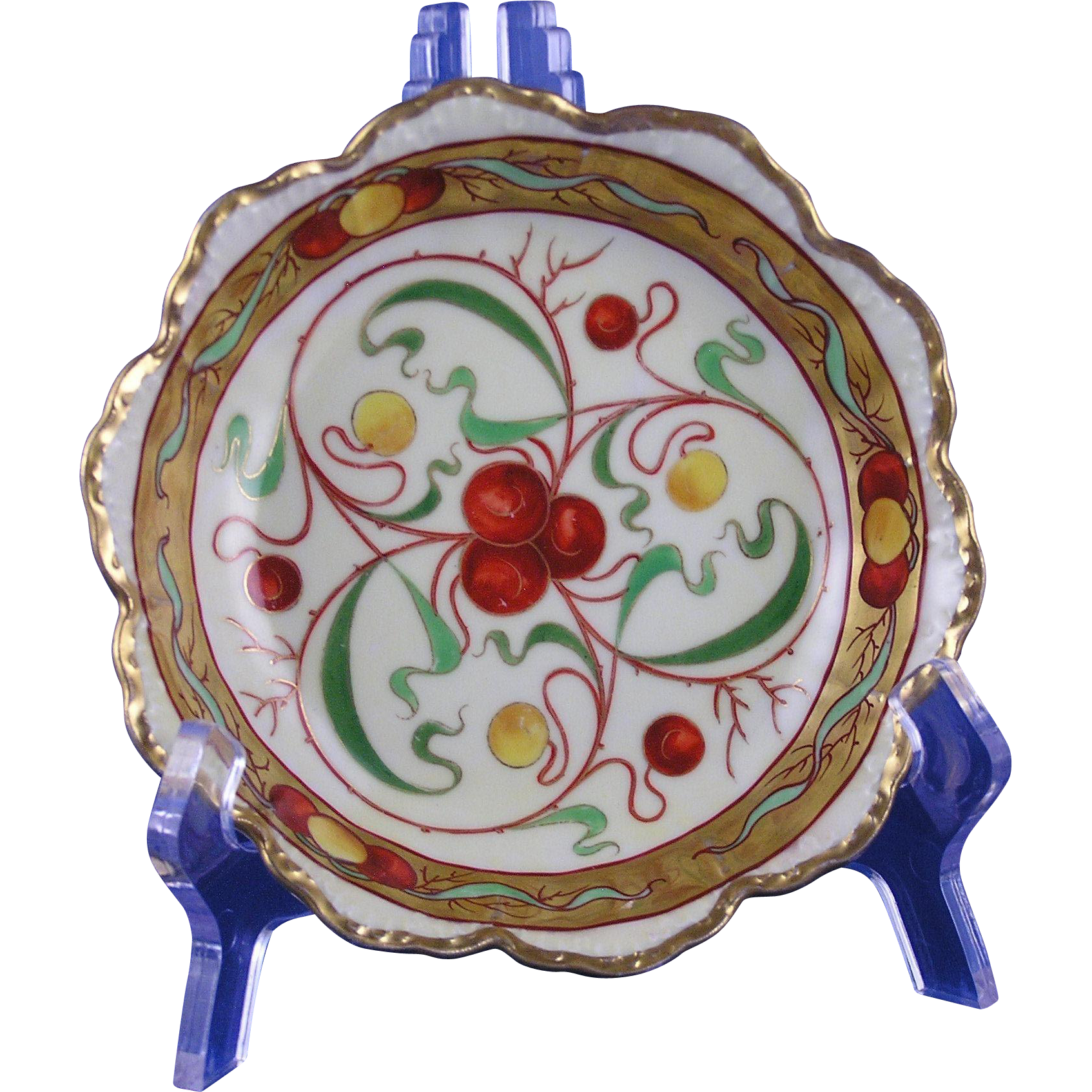 "Rosenthal Bavaria Pickard Studios ""Cherries & Gold"" Design Bowl (c.1903-1905)"
