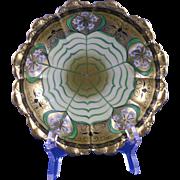 """Haviland Limoges Pickard Studios """"Lily Palmate"""" Design Bowl (Signed """"Bardos"""" for Isadore Bardos/c.1905-1910)"""