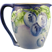 "Lenox Belleek Arts & Crafts Plum Motif Pitcher (Signed ""G. Bechtlof""/Dated 1913)"