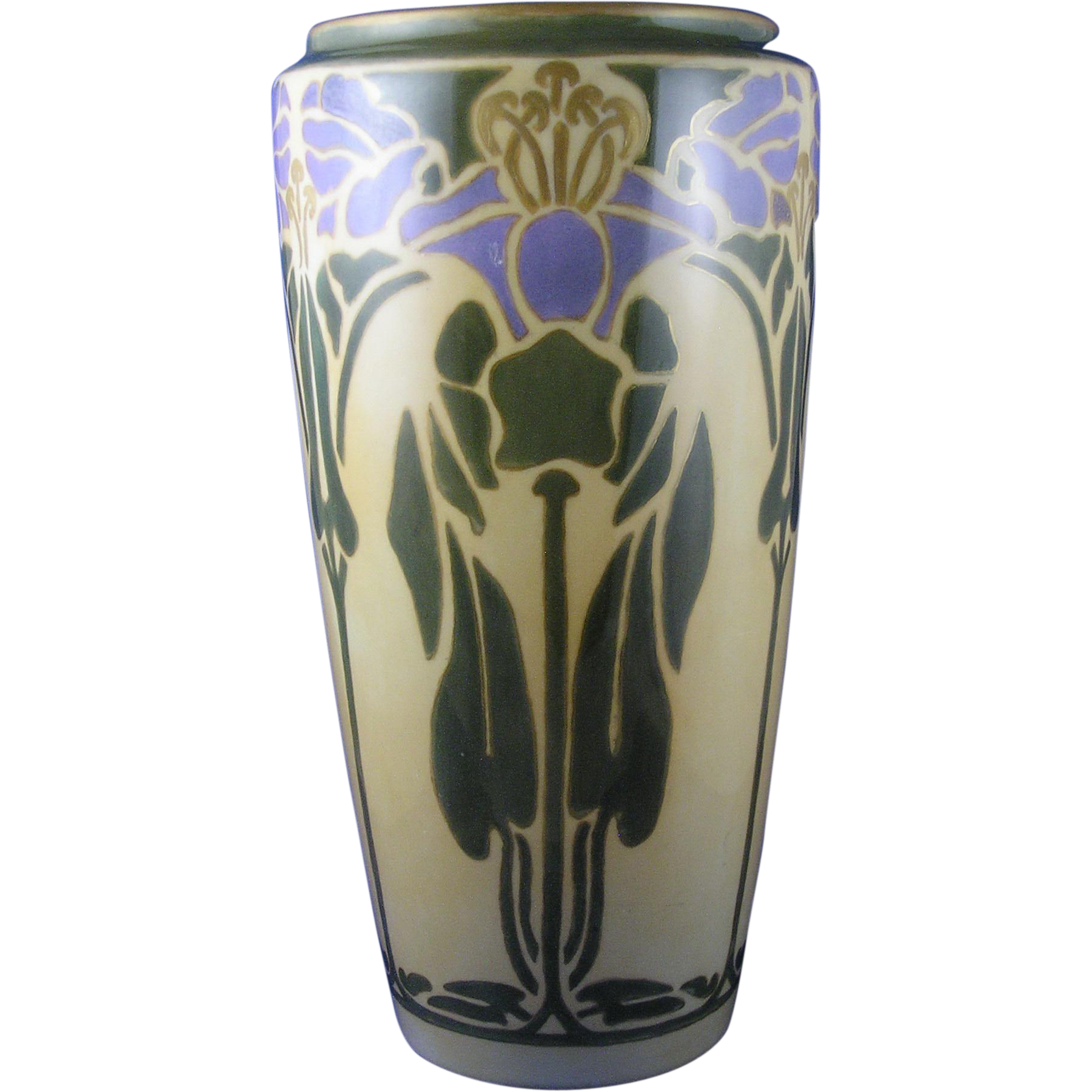 "Bernardaud & Co. (B&Co.) Limoges Arts & Crafts ""Cobaea"" Design Vase (c.1917-1930)"