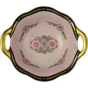 """RS Germany Art Deco Floral Motif Handled Bowl (Signed """"G. Eby.""""/c.1920-1935)"""