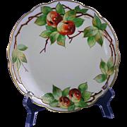 "Edward W. Donath Studio Moritz Zdekauer (MZ) Austria Apple Motif Plate (Signed ""Donath""/c.1910-1915)"