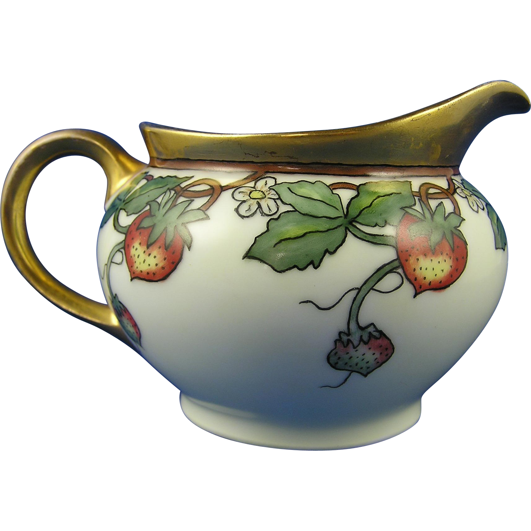 Thomas Bavaria Arts & Crafts Strawberry Design Pitcher (c.1908-1930)
