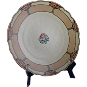"""Bavaria Arts & Crafts Poinsettia Design Charger/Plate (Signed """"Rita Work""""/Dated 1915)"""