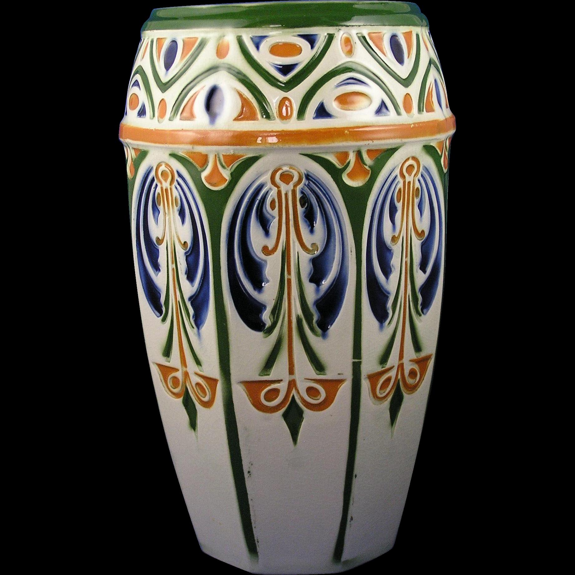 Keller & Guerin St. Clements Luneville France Art Nouveau Vase (c.1889-1915)