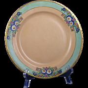 Haviland Limoges Arts & Crafts Enameled Floral Motif Plate (c.1909-1931) - Keramic Studio Design