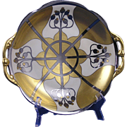 "Pickard Studios ""Aura Argenta Linear"" Design Handled Bowl (Signed ""G. Hiecke""/c.1918-1919)"