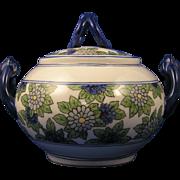 William Guerin & Co. (WG&Co.) Limoges Enameled Floral Motif Sugar/Trinket Jar (Signed/c.1891-1900)