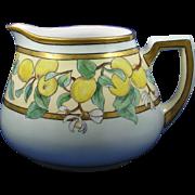 Zeh Scherzer & Co. (ZS&Co.) Bavaria Arts & Crafts Lemon Motif Pitcher (c.1880-1920)