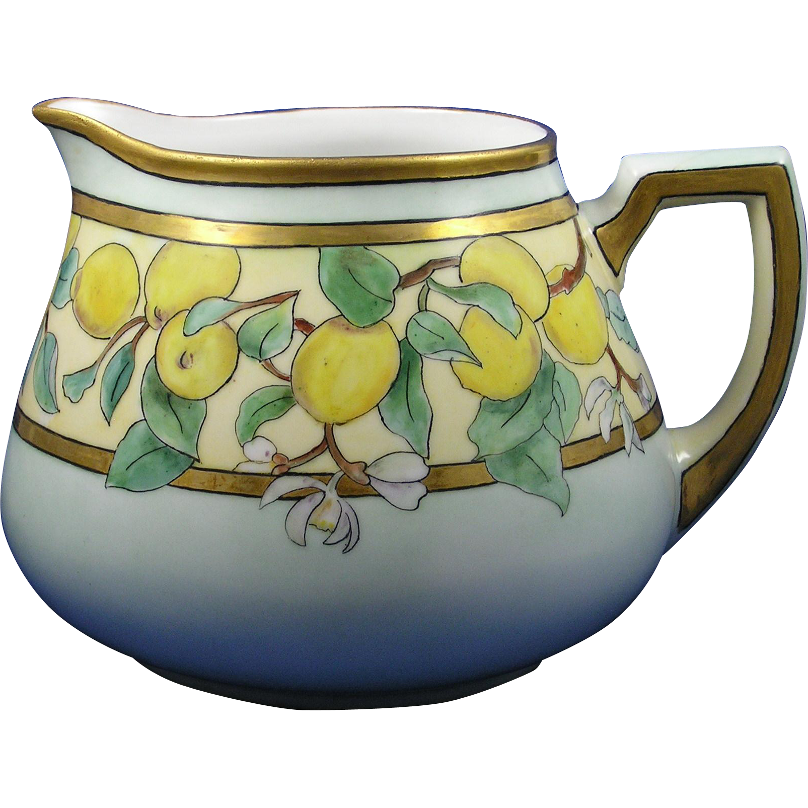Zeh Scherzer & Co. (ZS&Co.) Bavaria Arts & Crafts Lemon Motif Pitcher (c.1880-1920)