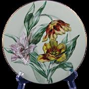 "Haviland & Co. Limoges Tulips Design Plate (Signed ""A. Paige""/c.1888-1896)"