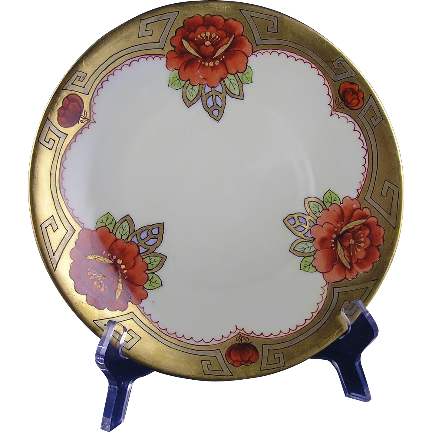 "Quality Art Studio Favorite Bavaria ""Dahlia Rubra"" Design Plate (c.1905-1920)"