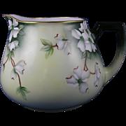 Zeh, Scherzer & Co. (ZS&Co.) Austria Dogwood Flower Design Cider/Lemonade Pitcher (c.1880-1930)