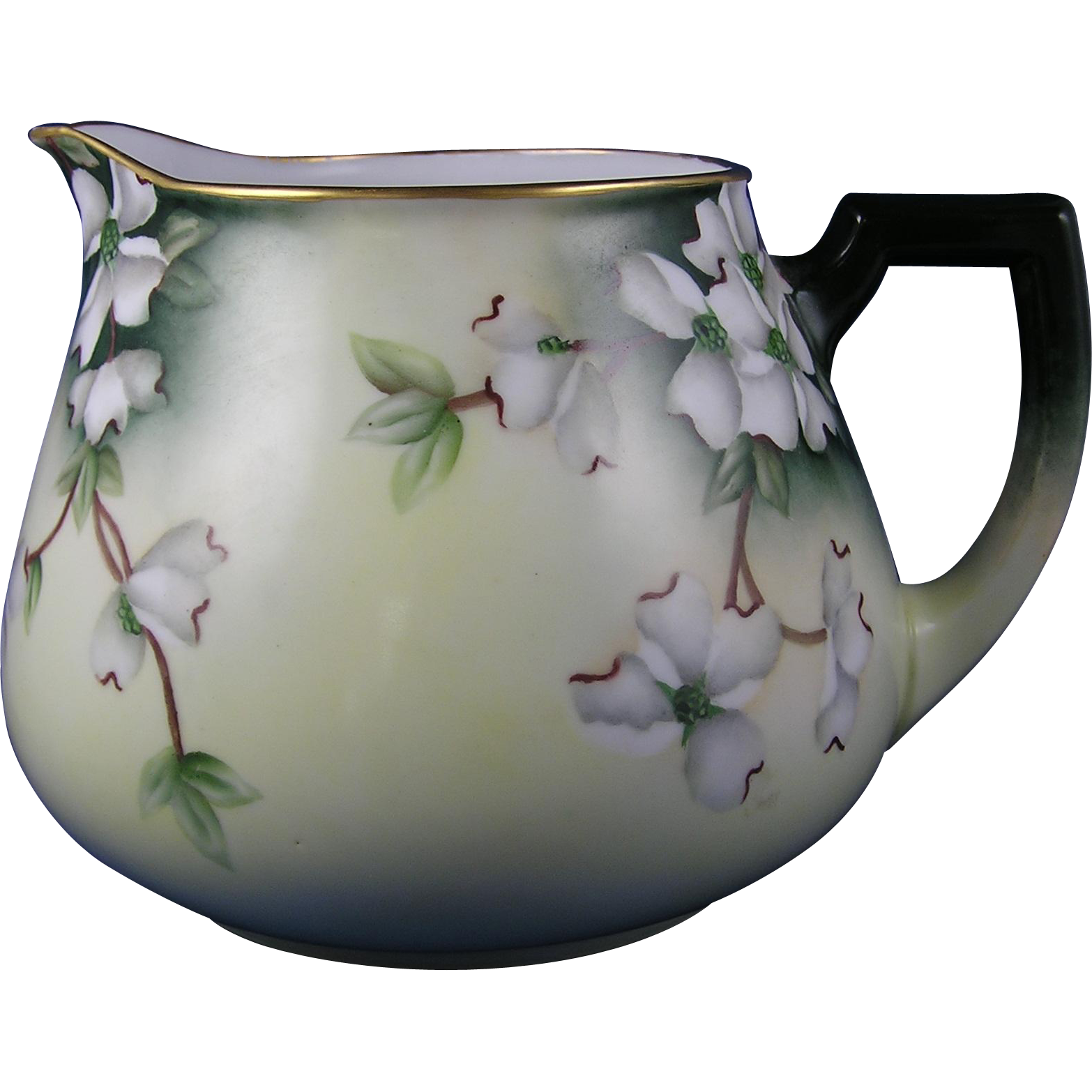 Zeh, Scherzer & Co. (ZS&Co.) Austria Dogwood Flower Design Cider/Lemonade Pitcher (c.1880-1930)