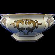 "Bernardaud & Co. (B&Co.) Limoges Arts & Crafts Lustre Centerpiece Bowl (Signed ""L.B.C""/Dated 1917)"
