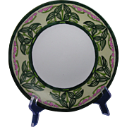 "Porcelain Limousine (PL) Limoges Arts & Crafts ""Sagittaria Design"" Plate (Signed ""H.E.""/c.1905-1930)"