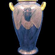 Pickard Studio Mottled Blue Design Handled Vase (c.1918-1919)
