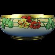 HC Royal Bavaria Arts & Crafts Nasturtium Motif Centerpiece Bowl (c.1910-1930)