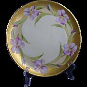 Haviland Limoges White's Art Co. Chicago Iris Design Plate (c.1914-1923)