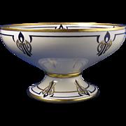 "Hutschenreuther Selb Bavaria Arts & Crafts Pedestal Bowl (Signed ""M.G.F.""/c.1930-1935)"