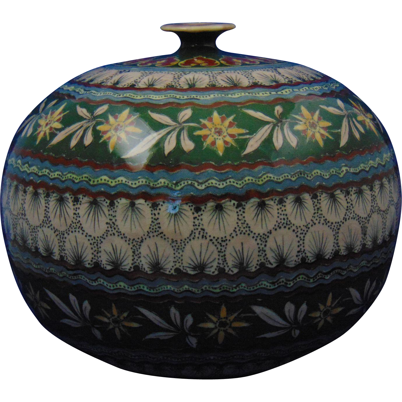 Royal Bonn Germany Old Dutch Design Vase (c.1890-1923)