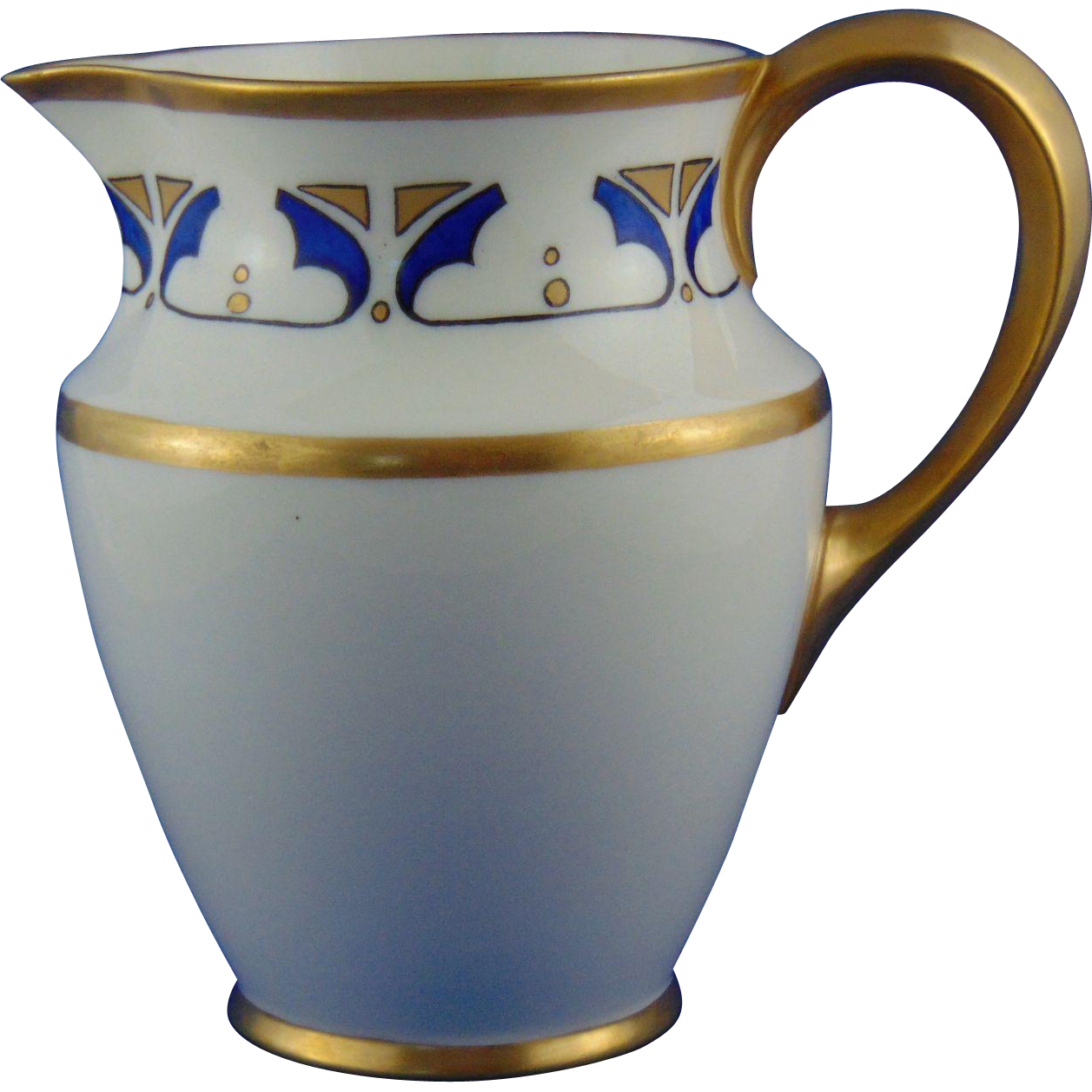 "Lenox Belleek Arts & Crafts Geometric Design Pitcher (Signed E.H.G.""/c.1906-1924)"