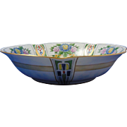 "Jaeger & Co. (JC) Bavaria Arts & Crafts Floral & Geometric Design Centerpiece Bowl (Signed ""Daisy Nance""/c.1902-1930)"