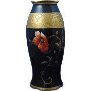 Schonwald Porcelain (PSAA) Bavaria Poppy & Etched Gold Design Vase (c.1920-1927)