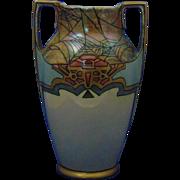Moritz Zdekauer (MZ) Austria Arts & Crafts Floral & Spider Web Design Vase (c.1894-1915)