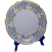 "Moritz Zdekauer (MZ) Austria Arts & Crafts Morning Glory Motif Plate (Signed ""H.L.S.""/Dated 1910)"
