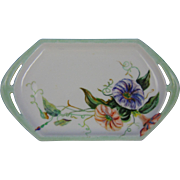 "Moritz Zdekauer (MZ) Austria Arts & Crafts Morning Glories Design Tray (Signed ""A.E.U.""/Dated 1914)"