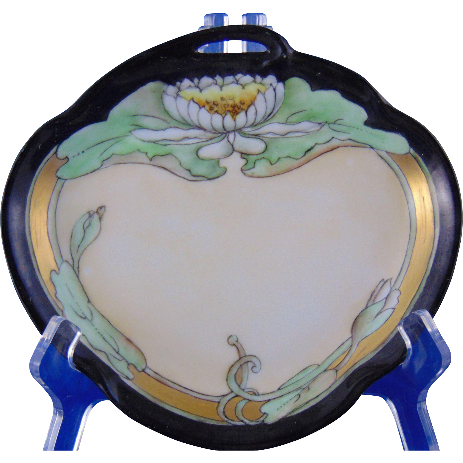 Jaeger & Co. (JC) Bavaria Arts & Crafts Lotus Blossom Dish (c.1902-1930)