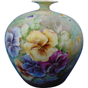 PH Leonard Austria Pansy Motif Vase (c.1890-1908)