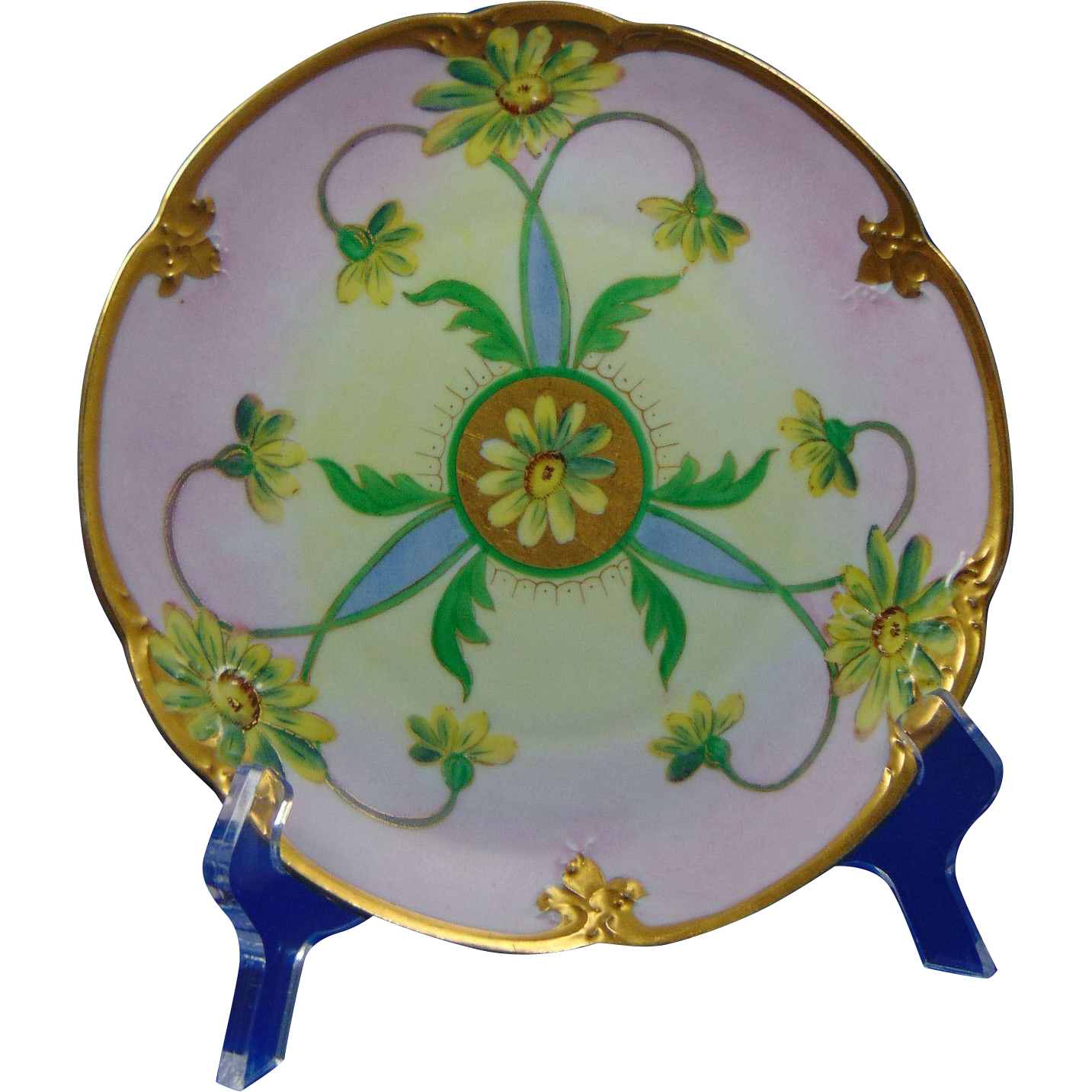 Edward W. Donath Studio Radiating Daisy Design Plate (c.1910-1915)
